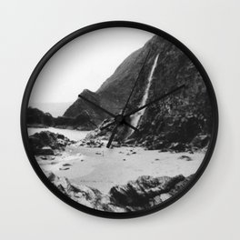 DON'T GO JASON WATERFALLS IN WALES Wall Clock