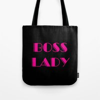 boss Tote Bags featuring Boss by AE Interiors