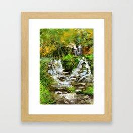 Waterfall Illustration  Framed Art Print