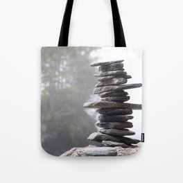 West Coast Inukshuk with Cedar Trees  #decor #society6 #buyart Tote Bag