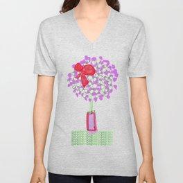 Flower Tree with Bow Unisex V-Neck