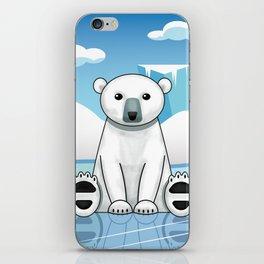 Polar Bear Winterscape iPhone Skin