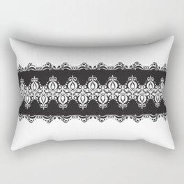 Floral Lace Border Rectangular Pillow
