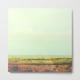 Astract Modern Desert Photograhy Metal Print