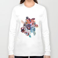 agate Long Sleeve T-shirts featuring Earth's Loveliness, Agate Collection by Elena Kulikova