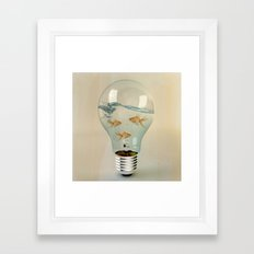 ideas and goldfish 03 Framed Art Print