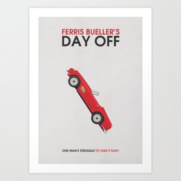 Ferris Bueller's Day Off Alternative Minimalist Poster Art Print
