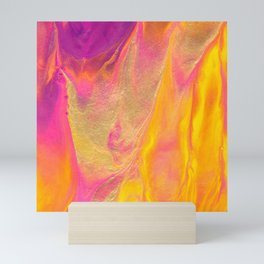 Dripping in Gold Abstract Painting Mini Art Print