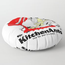 Kitchen Ants Floor Pillow