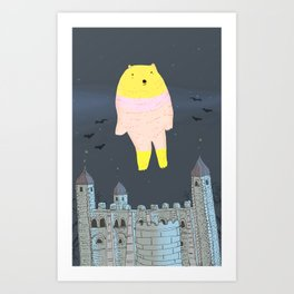 The Ghost Bear of The Tower Of London Art Print
