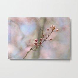 Simple Pink Floral Metal Print