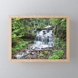 Wagner Falls, Munising, Michigan Framed Mini Art Print