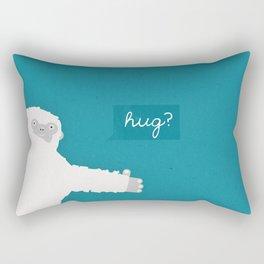 Yeti Hug Rectangular Pillow