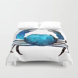 Cerulean blue Crustacean Duvet Cover