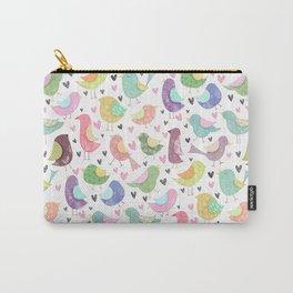 Seamless Bird Pattern Carry-All Pouch