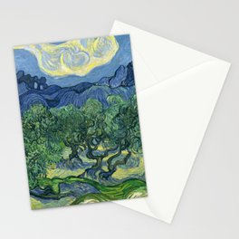 The Olive Trees by Vincent van Gogh Stationery Cards