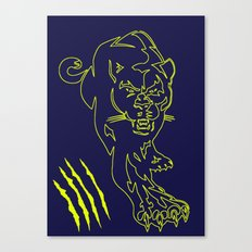 puma scratch Canvas Print