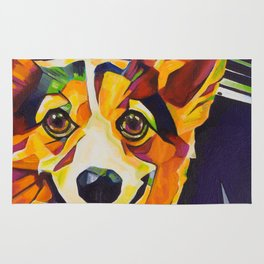 Pop Art Corgi Rug