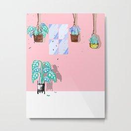 Happy Plants - Illustration 3 Metal Print