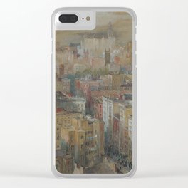 Colin Campbell Cooper - View Of New York City. Clear iPhone Case