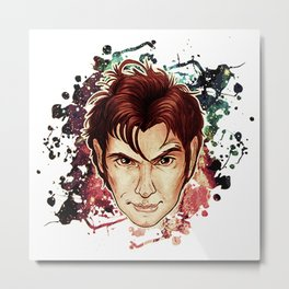 Tenth Doctor Metal Print