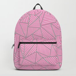 Ab Out Double Pink and Grey Backpack