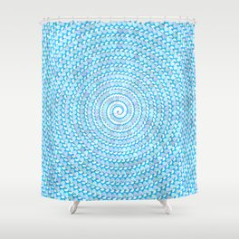 seashell spiral shower curtain
