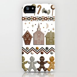 Gingerbread Row Dance in Snow White iPhone Case