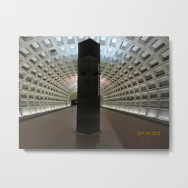 Foggy Bottom Metro Metal Print