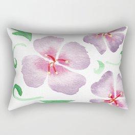 framed purple flowers Rectangular Pillow
