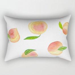Fun Watercolor Peaches Rectangular Pillow