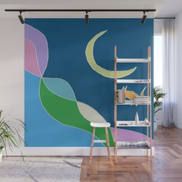 moonscape - weightless cat edition Wall Mural