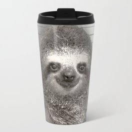 Sloth in a Mugshot Travel Mug