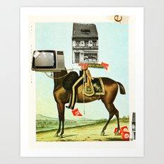 Die Sache mit dem Pferd Art Print