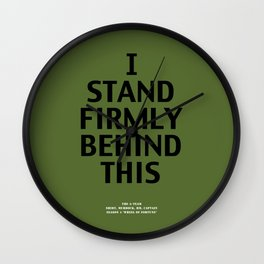 Howlin' Mad Murdock's 'I Stand Firmly...' shirt Wall Clock