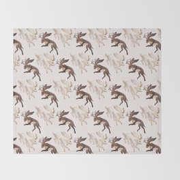 Ying Yang Jackalope Throw Blanket