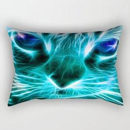 Lightning Cat Rectangular Pillow