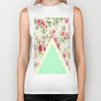 floral pattern Biker Tanks featuring Floral pattern by ''CVogiatzi.