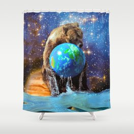 Give Planet Earth A Bear Hug! Shower Curtain