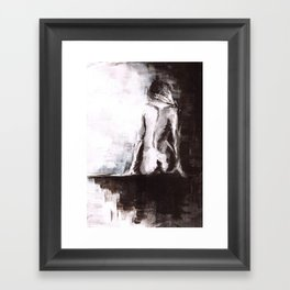 Woman nude Framed Art Print
