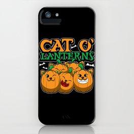 Cat O'Lanterns - Kitten Pumpkins - Feline Costume iPhone Case