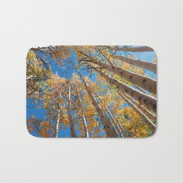 Aspen Trees Against The Sky In Crested Butte, Colorado for #Society6 Bath Mat