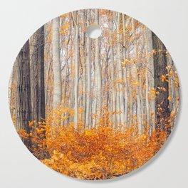 orange autumn Cutting Board