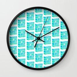 Bookish KEEPER pattern Wall Clock