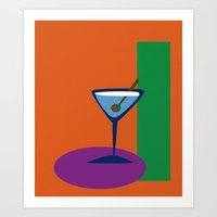 martini Art Prints featuring Martini by MartiniWithATwist