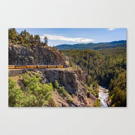 On the High Line - Durango-Silverton Narrow Gauge Railroad Canvas Print