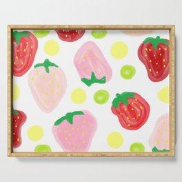 Strawberry apple custard medley Serving Tray