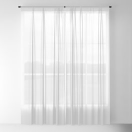 White Minimalist Solid Color Block Sheer Curtain