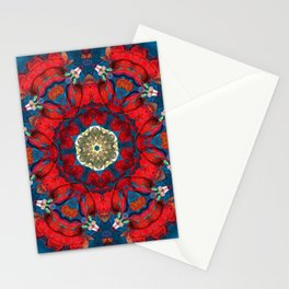 mandala 10 red blue #mandala Stationery Cards