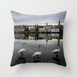 Iceland Geese Throw Pillow
